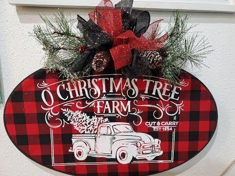 Chalk Couture O Christmas Tree Farm Transfer Youtube Burlap Christmas Ornaments Farm Christmas Decorations Christmas Tree Farm