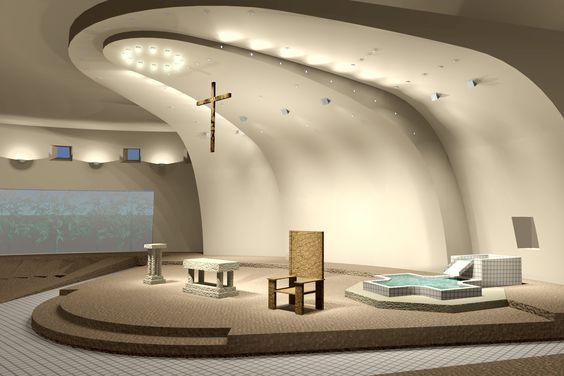 Church front design church interior design interior for Church interior design ideas
