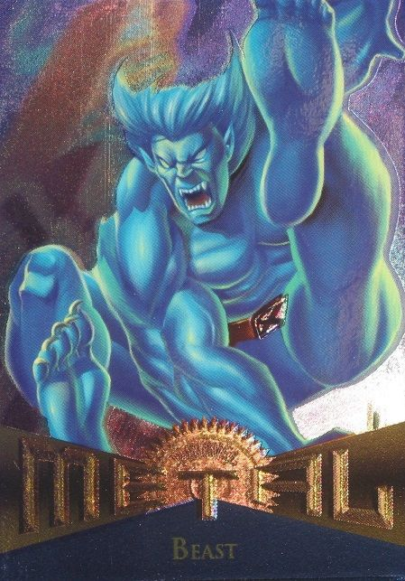 Beast 1995 Marvel Metal Card Number #85