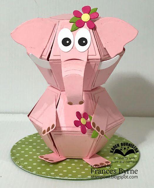Stampowl S Studio Pink Elephant Bitty Ball Pop Up Pop Up Pop Up Cards Paper Pop