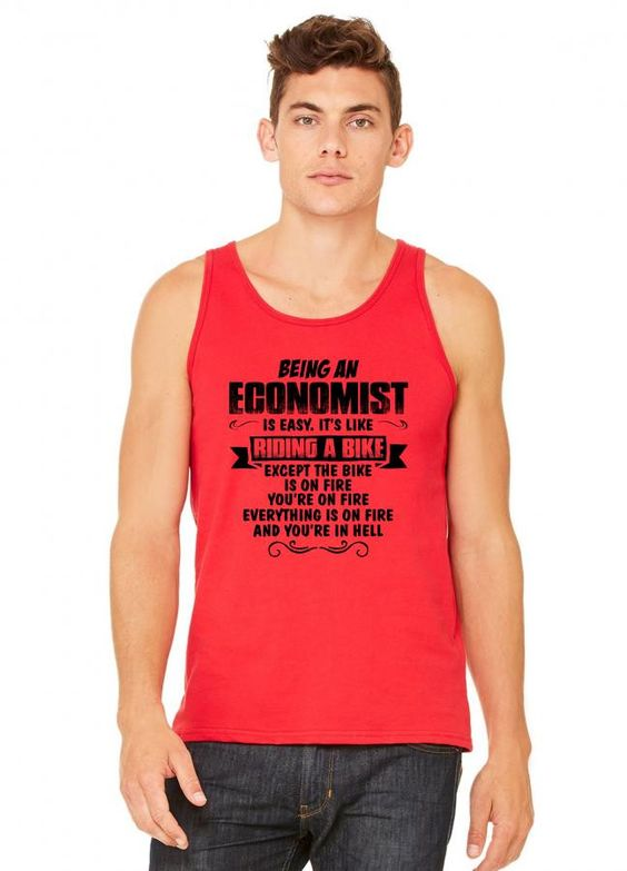 being an economist copy tank top