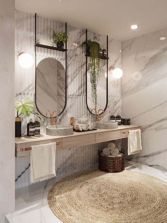 Modern Bathroom Decor Marble Interior Bathroom Interior Bathroom Styling