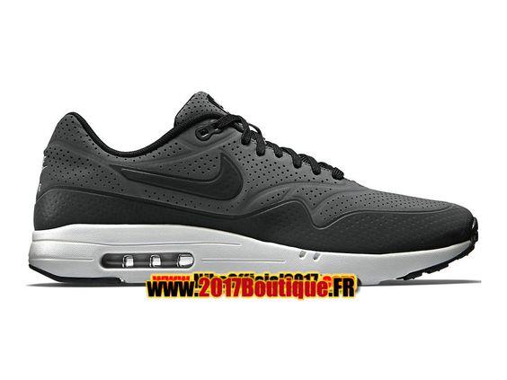 Nike Air Max 1 Ultra Moire Chaussures de Basket Nike Pas Cher Pour Homme Gris/Blanc 705297-003