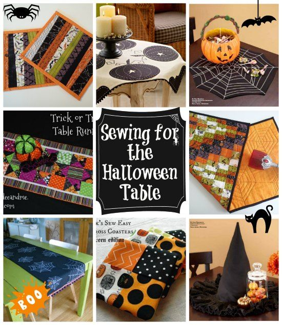 Home Decor Sewing Ideas: Halloween, Halloween Table And Sewing On Pinterest
