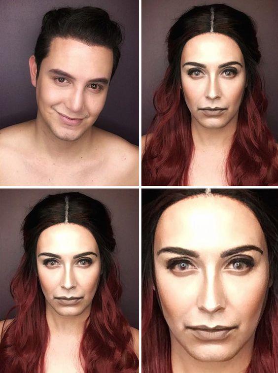 Ce make-up artist se transforme en filles de Game of Thrones : Melisandre, la femme rouge