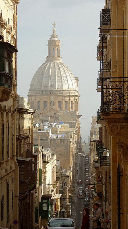 Valletta, Malta - Hotel we stayed in was just by this street. Beautiful city & country & will definitely go here again. - Harriet