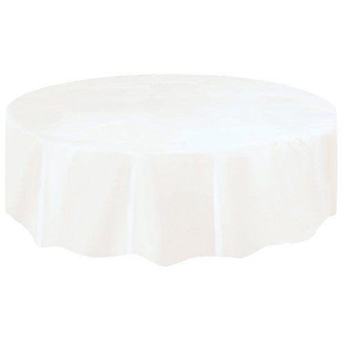 Round White Plastic Tablecloth, 7ft: Amazon.co.uk: Toys & Games