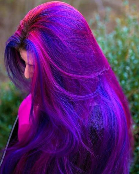 Pink and purple hair #bright #hair
