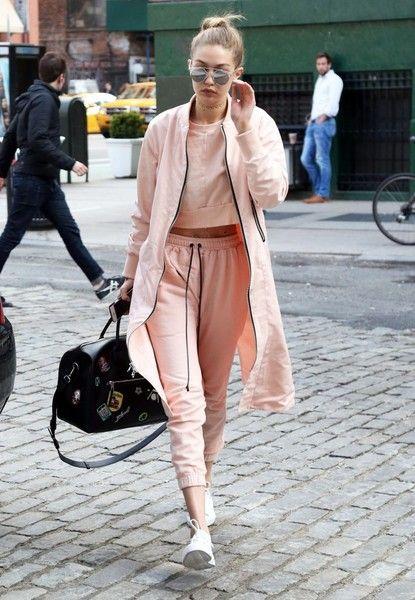 Gigi Hadid moletom pink / looks para o inverno / winter looks ideas