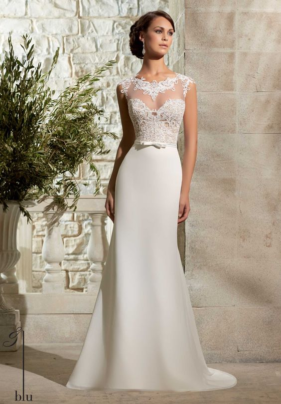"""NEW IN!!! """"Leigh"""" style no: 5301 Mori Lee by Madeline Gardner Blu Collection 2015"""