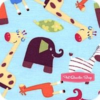 Monkey Mates Multi on Blue Animals All Over Yardage SKU# 9612-122
