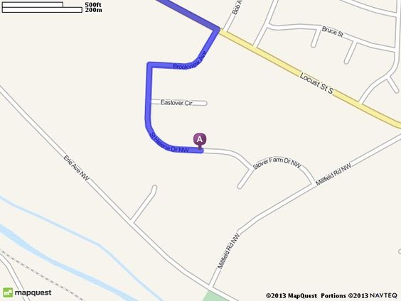 Driving directions from 12434 saint helena dr nw canal for Ikea driving directions