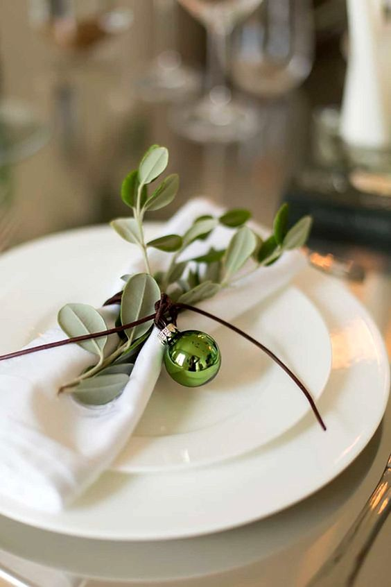 Christmas table decorations can set the tone for your holiday ... acorn tree centerpiece, paint nuts with white craft paint, leaving caps natural.