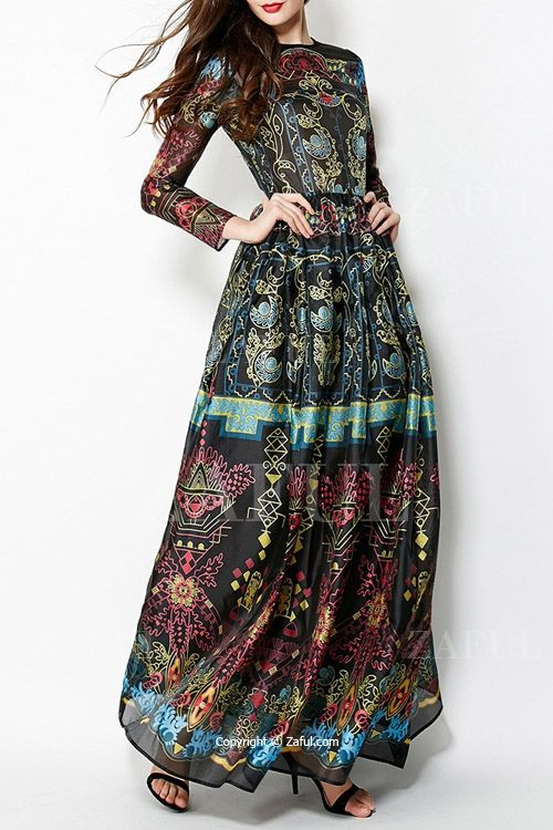 Floral Round Neck Sleeveless Maxi Dress - The o&-39-jays- Maxis and ...