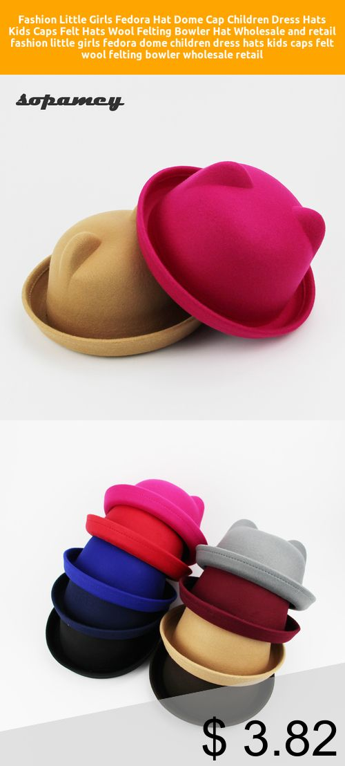 Only 3 82 Fashion Little Girls Fedora Hat Dome Cap Children Dress Hats Kids Caps Felt Hats Wool Felting Bowler Hat Wholesale And Retail Fashion Little Gir