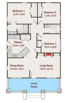 Plan 50105ph Adorable Bungalow House Plan Small House Floor Plans New House Plans Craftsman House Plans