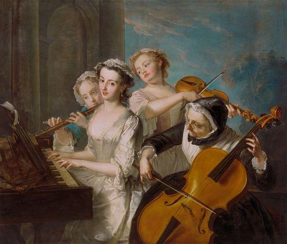 Philippe Mercier,also known as Philip Mercier (1689-1760)  — The Sense of Hearing,1747  (1206x1024):