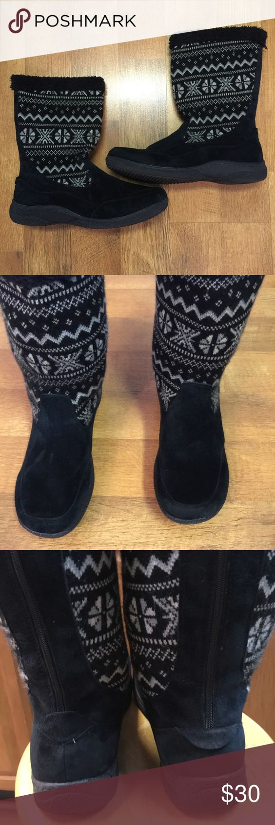 ProPet black snow/winter boots size 11. ProPet black snow/winter boots size 11. This is a great pair of suede winter boots. They have back zipper for easy on/off. They are in great shape. Propet Shoes Winter & Rain Boots