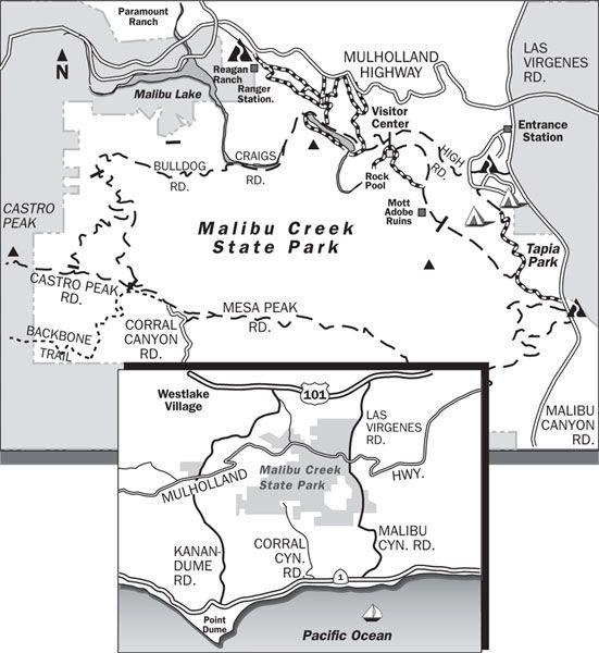 Mailbu Creek Hiking To The Spot Where Swiss Family Robinson Was: Malibu State Park Map At Usa Maps