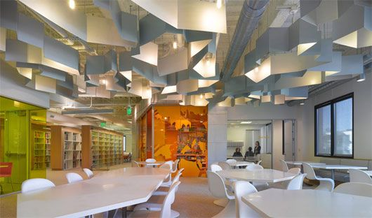 Modern College Interior Design By Clive Wilkinson Architects