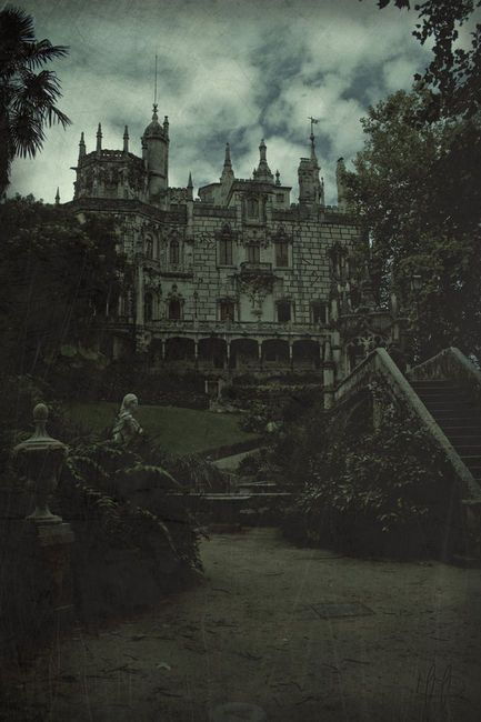 Gothic Castle. Spoooooooky! I love it!Do you think the trick or treaters would even come to this house for candy? Probably not! Wonder how many things go bump in the night here?