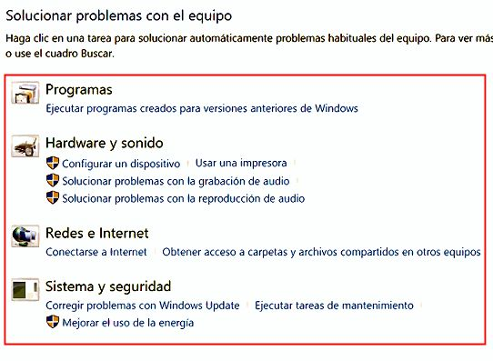 Solucionar problemas con Windows 10
