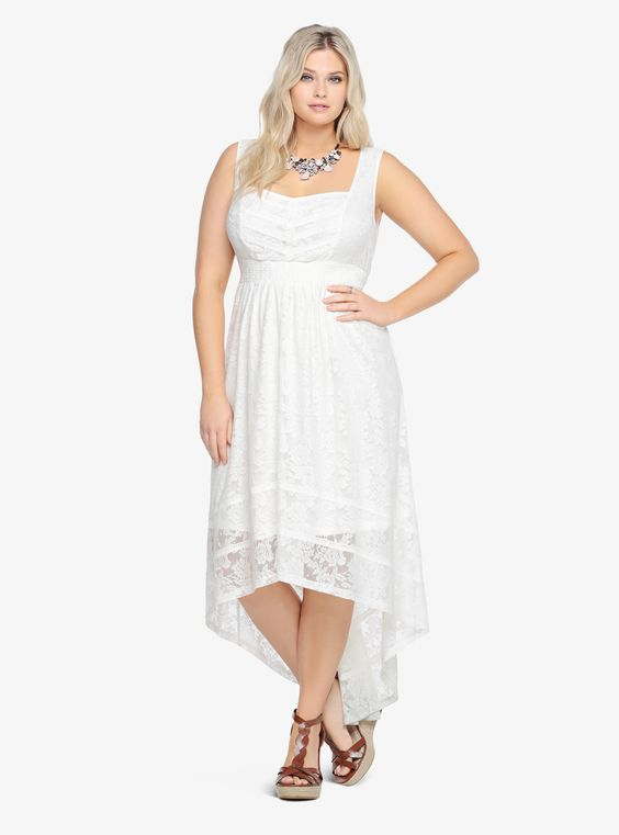 Lace hi lo dress torrid plus sized clothes i love the for Hi lo hemline wedding dresses