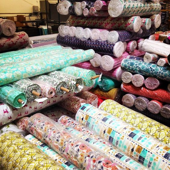 """At the warehouse last week, #cottonandsteel was everywhere! So exciting!"""