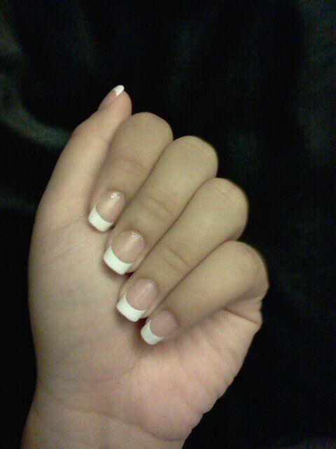 My natural nails DIY french mani!