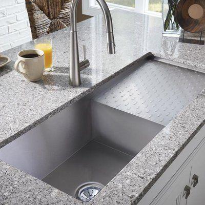 Crosstown 44 X 18 Undermount Kitchen Sink With Dashboard Undermount Kitchen Sinks Replacing Kitchen Countertops Modern Kitchen Sinks