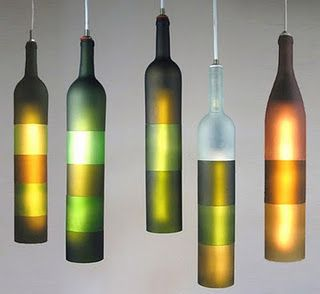 A website that is filled with cool ideas for wine bottles.