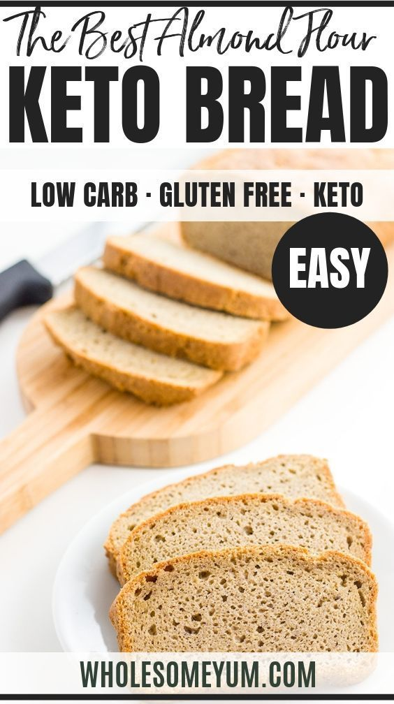Easy Low Carb Bread Recipe Almond Flour Bread Paleo Gluten Free In 2020 Easy Keto Bread Recipe Easy Low Carb Bread Recipe Low Carb Bread