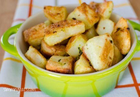 mortar and pestle herbs herb pots yummy food roasted potatoes garlic ...