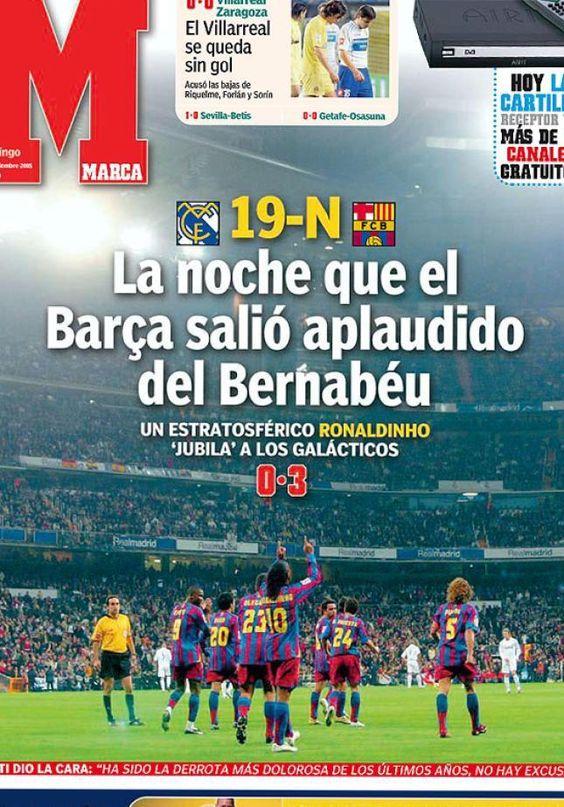 9no aniversario de la noche mágica en que Ronaldinho venció a los galácticos en el Bernabéu.