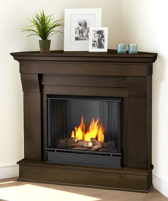 Corner Fireplaces Dark Walnut And Chateaus On Pinterest