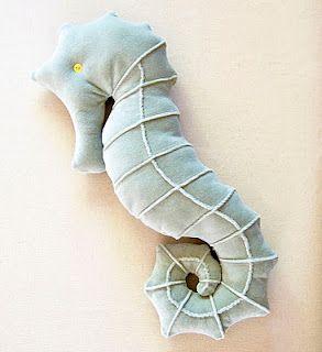 DIY Seahorse Pillow Pattern