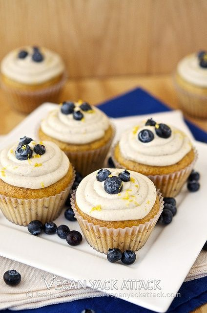 Berry-Filled Banana Cupcakes with Lemon Coconut Frosting
