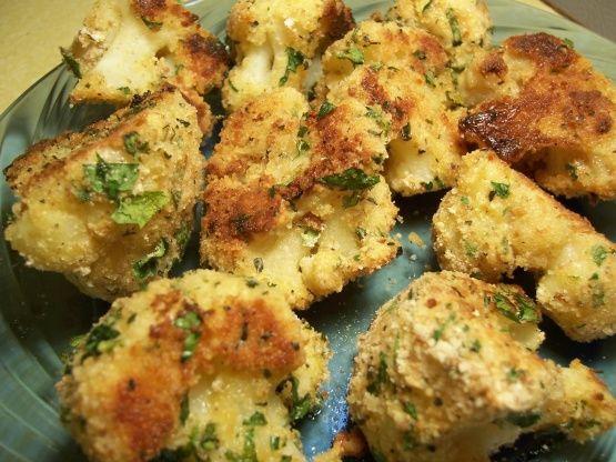 Oven Baked Crusty Herbed Cauliflower Recipe - Food.com: Food.com