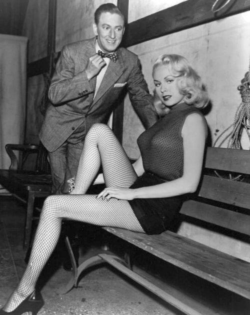 Ray Bolger and Joi Lansing. *Straw Man in Wizard of Oz*