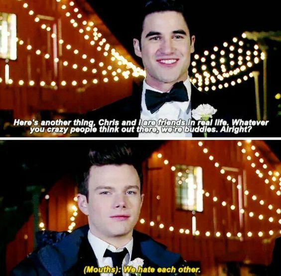 Darren criss and chris colfer glee