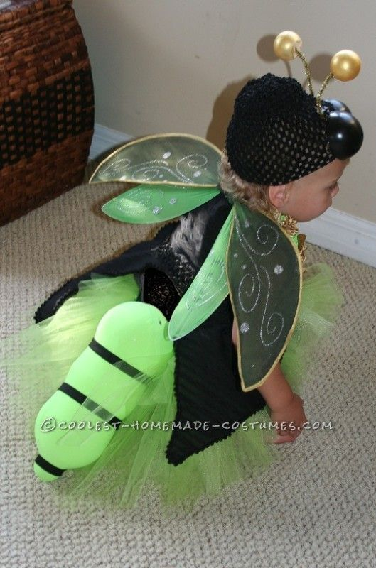 Easy And Amazing Homemade Lighted Firefly Costume For