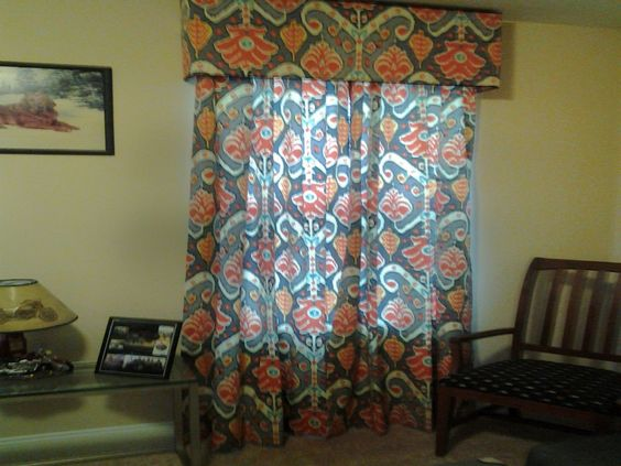 Valance and curtains by Lillian Crompton!