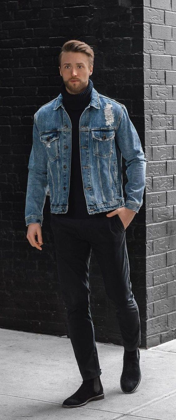 5 Denim Jackets To Enhance Your Personality Denim Outfit Men Denim Jacket Men Outfit Denim Jacket Outfit