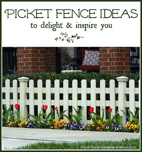 Picket Fence Ideas For Instant Curb Appeal Gardens