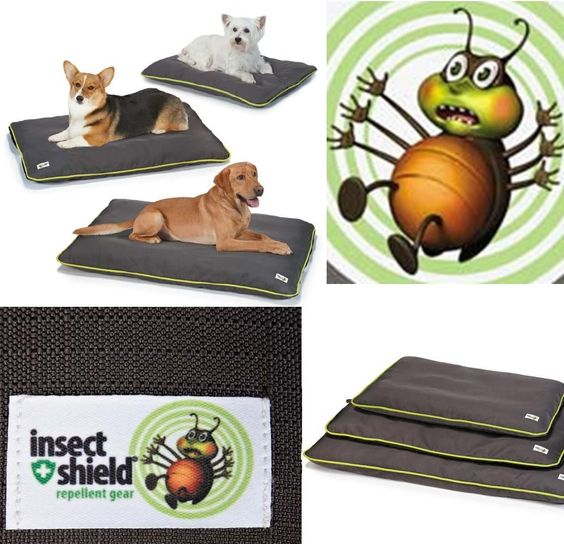 Insect Shield Crate Kennel Mat Bed Dog Flea Puppy Tick Mosquitoe Fly Protection