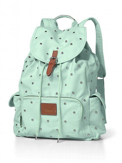 Studded Backpack. Love the colour! #VictoriasSecret
