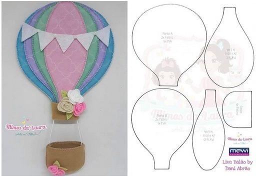 Balao Em Feltro Com Molde Para Imprimir With Images Doll