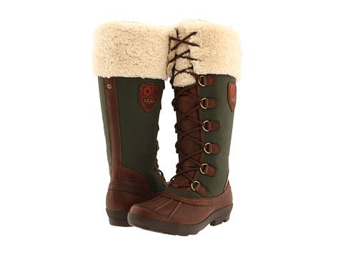 UGG Edmonton Chocolate/Lodge Green - 6pm.com