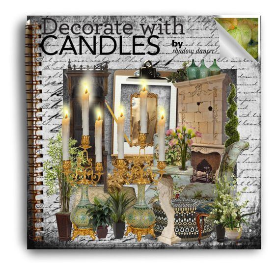"""Decorate with Candles"" by shadow-dancer-666 ❤ liked on Polyvore featuring interior, interiors, interior design, home, home decor, interior decorating, Nearly Natural, Palecek and decoratewithcandles"
