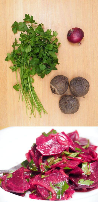 Rote-Beete Salat. Denn Rote-Beete kann auch roh.